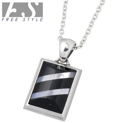 【フリースタイル】FREE STYLE ネックレス レディース オニキス シルバー ジュエリー ブラックシェル チェーン付き 925 スターリングシルバー FSP-906ON-CL60