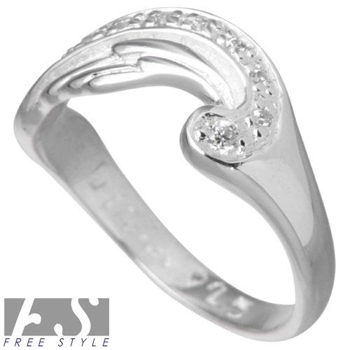 フリースタイル FREE STYLE リング 指輪 レディース ウィング シルバー ジュエリー キュービック CZ 925 スターリングシルバー FSR 841LOkXZuTiPlw
