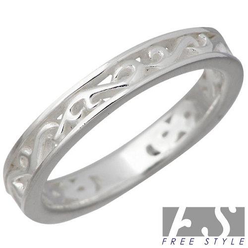 【フリースタイル】FREE STYLE リング 指輪 レディース アラベスク シルバー ジュエリー 925 スターリングシルバー FSR-885W