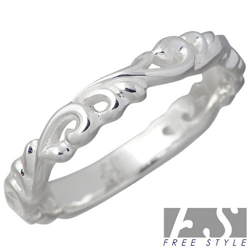 【フリースタイル】FREE STYLE リング 指輪 レディース アラベスク シルバー ジュエリー 925 スターリングシルバー FSR-888W