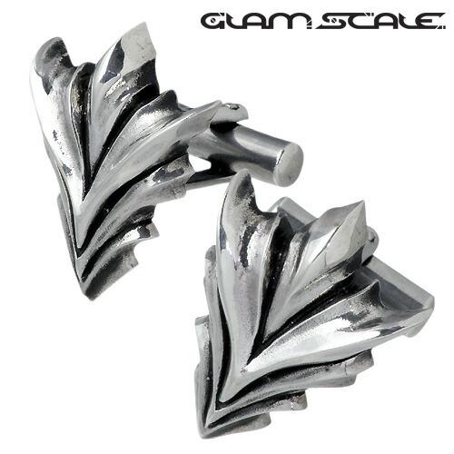 【グラムスケイル】GLAM SCALE カフスボタン メンズ シルバー ジュエリー V字 カフリンクス カフス 925 スターリングシルバー GS-EC-003