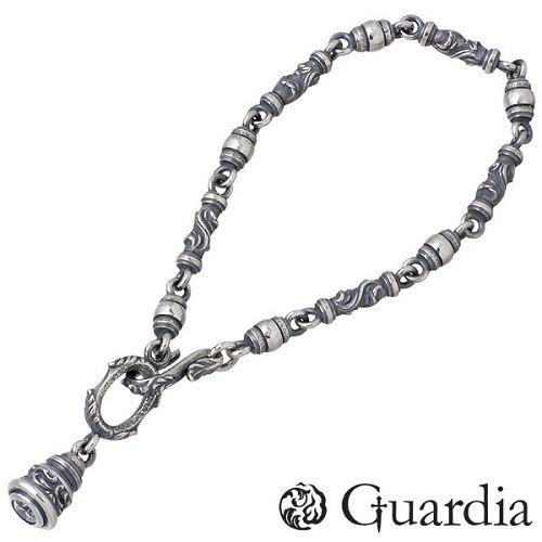 送料無料 Guardia ガルディア メンズ シルバー まとめ買い特価 ブレスレット クリア 半額 ジュエリー スターリングシルバー 925 Mサイズ ATBL-002CZ-M クリアキュービック