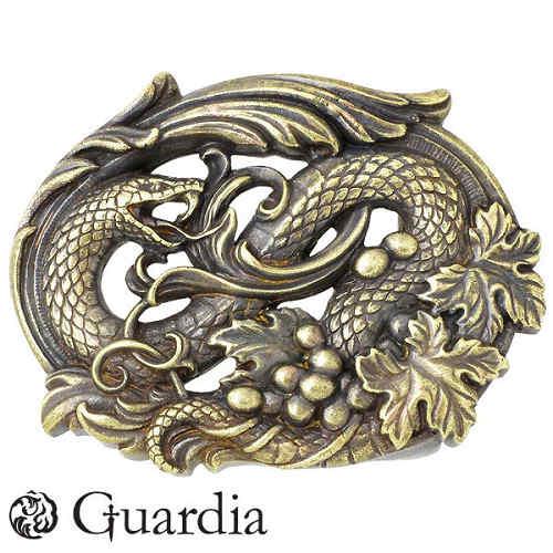 Guardia【ガルディア】ベルトバックル メンズ ディオニュソス 真鍮 蛇 925 スターリングシルバー ATBT-002