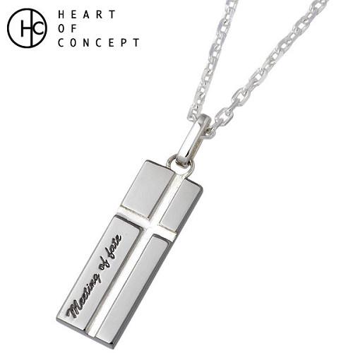 ハートオブコンセプト HEART OF CONCEPT ネックレス レディース シルバー ジュエリー プレート ブラック 925 スターリングシルバー HCP-304BK