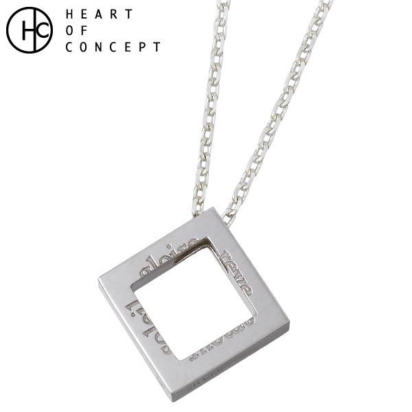 【ハートオブコンセプト】HEART OF CONCEPT ネックレス メンズ ダイヤモチーフ ポージー シルバー ジュエリー HCP-348M