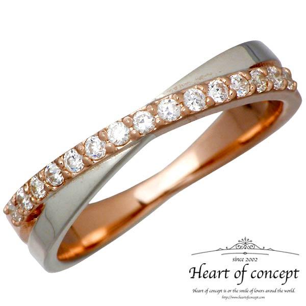 【ハートオブコンセプト】HEART OF CONCEPT リング 指輪 レディース シルバー ジュエリー ストーン キュービック ピンク 925 スターリングシルバー HCR-231PK