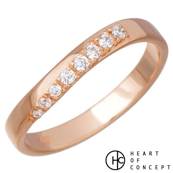 【ハートオブコンセプト】HEART OF CONCEPT リング 指輪 レディース デザインライン シルバー ジュエリー キュービック ピンクゴールド 5~15号 シルバーアクセサリー シルバー925 HCR-271L