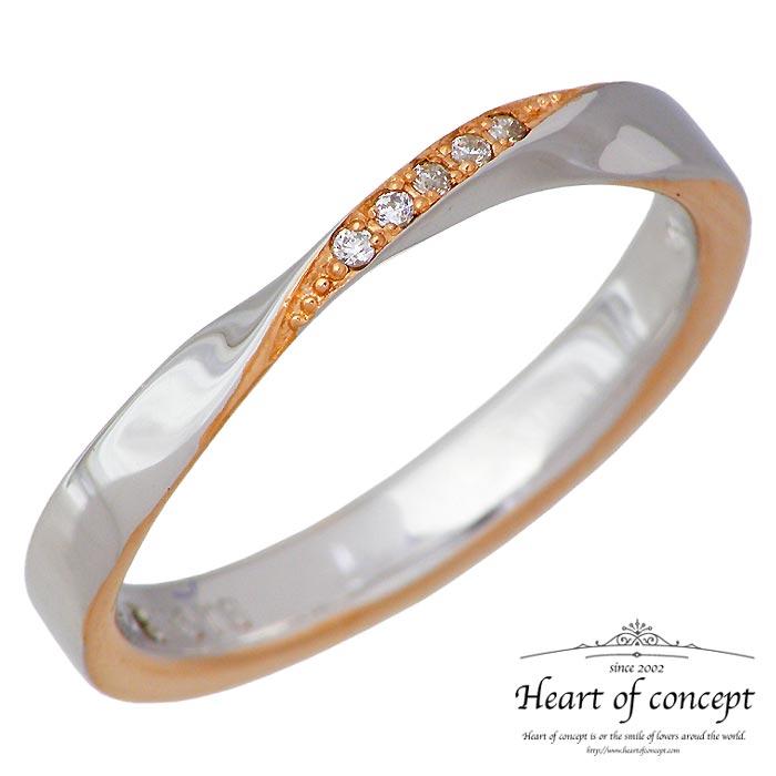 【ハートオブコンセプト】HEART OF CONCEPT シルバー ジュエリー リング ラヴァーズ レディース ダイヤモンド キュービック ピンクゴールド 指輪 7~15号 HCR-283L