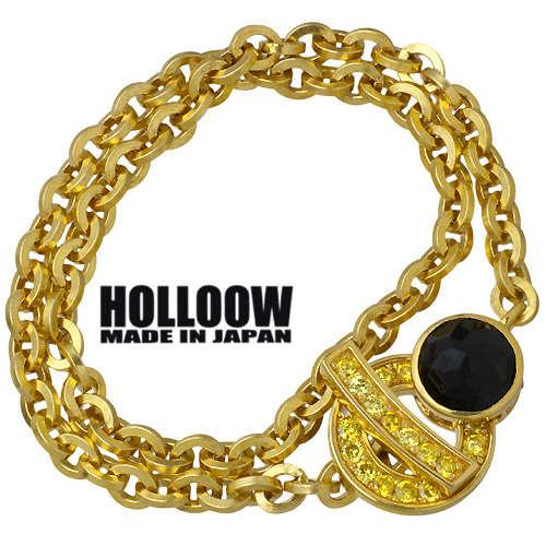 【ホロウ】HOLLOOW ブレスレット メンズ シルバー ジュエリー チェーン キュービック ゴールド 925 スターリングシルバー KHP-127GD