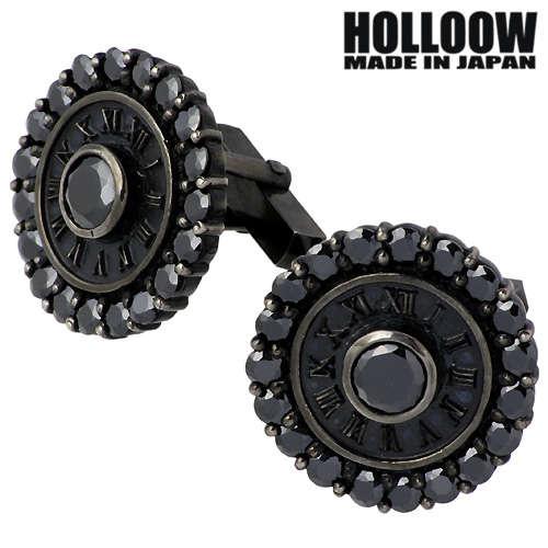 【ホロウ】HOLLOOW カフスボタン メンズ シルバー ジュエリー ナンバー キュービック カラー 925 スターリングシルバー KHP-132