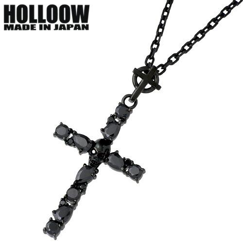 HOLLOOW【ホロウ】ネックレス メンズ シルバー ダージュ キュービック クロス 十字架 スカル ドクロ 髑髏 925 スターリングシルバー KHP-153