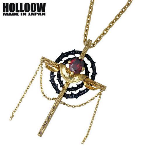 【ホロウ】HOLLOOW ネックレス メンズ シルバー ジュエリー シーゴッド ゴールド キュービック クロス 十字架 925 スターリングシルバー KHP-277GD