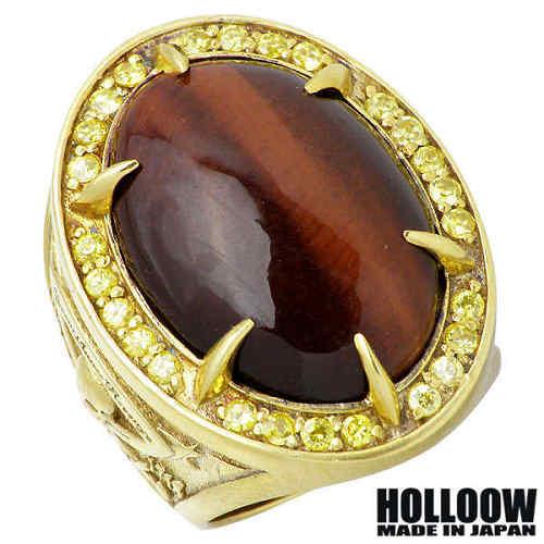 【ホロウ】HOLLOOW リング 指輪 メンズ シルバー ジュエリー ブラック ペアード カラー ストーン 15~25号 925 スターリングシルバー KHR-101