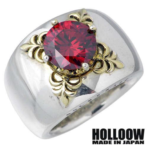 【ホロウ】HOLLOOW リング 指輪 レディース メンズ シルバー ジュエリー エデン ゴールド キュービック 10~25号925 スターリングシルバー KHR-32RD