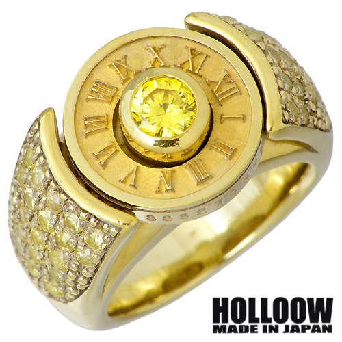 HOLLOOW【ホロウ】リング 指輪 レディース メンズ シルバー トェルブナンバー ゴールド キュービック 10~25号925 スターリングシルバー KHR-35GD