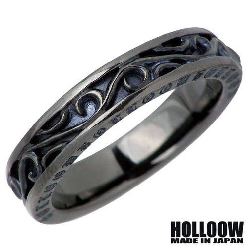 【ホロウ】HOLLOOW リング 指輪 レディース オニキス メンズ シルバー ジュエリー ブラック 6~25号925 スターリングシルバー KHR-94BK