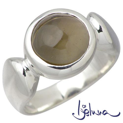 【アイジェルナ】Ijeluna リング 指輪 レディース スモーキークォーツ シルバー ジュエリー ルビコン 10mm 925 スターリングシルバー IJ-065RS-SMOKY