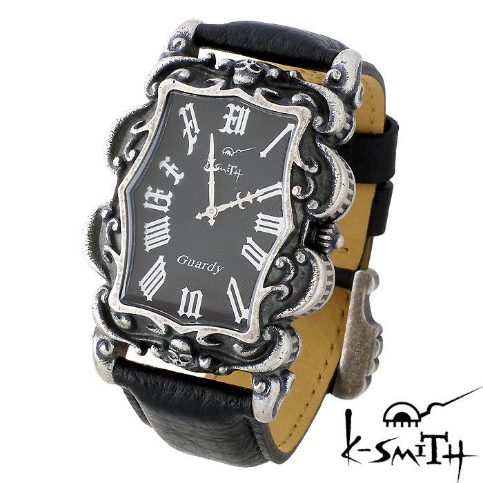 【ケースミス】K-SMITH 腕時計 Guardy ガーディ ブラック ギョーシェ メンズ 時計 Guardy-BKG
