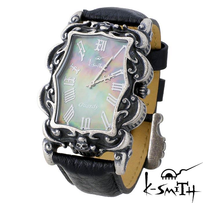【ケースミス】K-SMITH 腕時計 Guardy ガーディ ブラック シェル メンズ 時計 Guardy-BKS