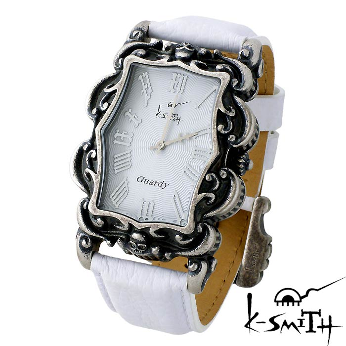 【ケースミス】K-SMITH 腕時計 Guardy ガーディ ホワイト ギョーシェ メンズ 時計 Guardy-WHG