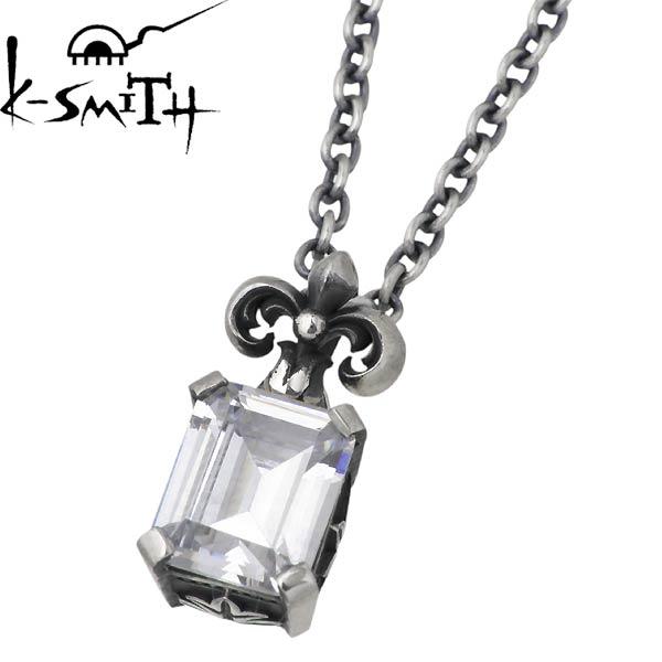【ケースミス】K-SMITH ネックレス メンズ シルバー ジュエリー クリアキュービック 925 スターリングシルバー KI-1279841