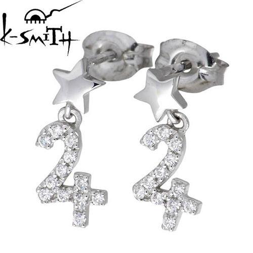 【ケースミス】K-SMITH ピアス レディース シルバー ジュエリー 惑星 キュービック 木星 両耳用 925 スターリングシルバーKS-00159