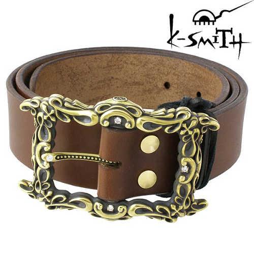 K-SMITH【ケースミス】ベルトバックル メンズ 真鍮 キュービックKSM-0106-BS