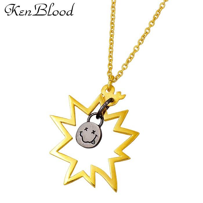 【ケンブラッド】KEN BLOOD THE TELL シルバー ジュエリー ネックレス メンズ ゴールド ブラック KP-420