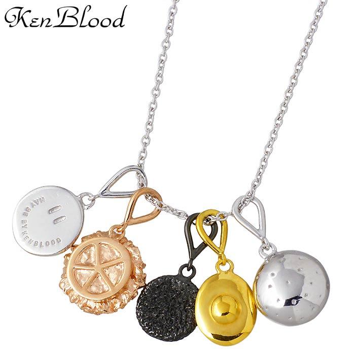 KEN BLOOD【ケンブラッド】THE FOD シルバー ネックレス メンズ ハンバーガー ゴールド ピンク ブラック KP-445
