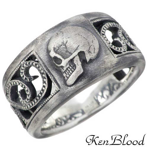 【ケンブラッド】KEN BLOOD リング 指輪 レディース シルバー ジュエリー スカル モラルズ 925 スターリングシルバー KR-226AtSV