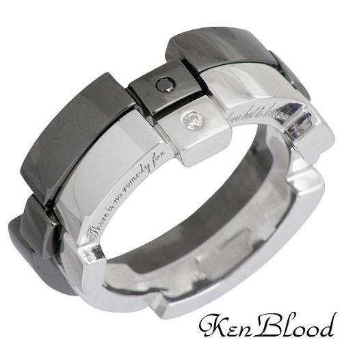 【ケンブラッド】KEN BLOOD リング 指輪 レディース ダイヤモンド シルバー ジュエリー ペアー レシプロカルラブ 925 スターリングシルバー KR-232SV-BK-P