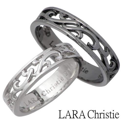 ララクリスティー LARA Christie リング 指輪 ペアー シルバー ジュエリー ランソー ホワイト ブラック 925 スターリングシルバー LA-R6028-P