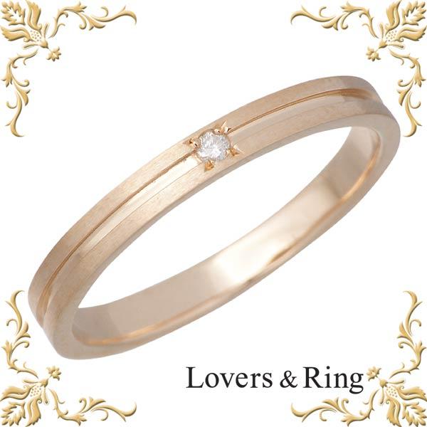 安い ラバーズリング Lovers & Ring リング 指輪 レディース ダイヤモンド K10 ピンクゴールド 刻印可能【_名入れ】 LSR-0602DPK, E-WestClub 8b579e9e