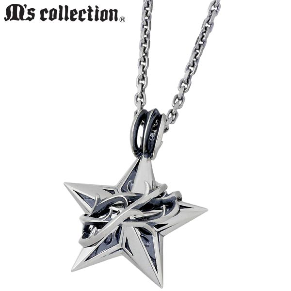 M's collection【エムズコレクション】 ネックレス レディース スター メンズ シルバー ブランブル 925 スターリングシルバー 4S2S0019