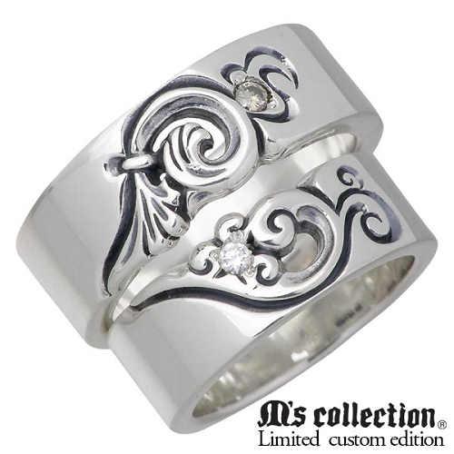 エムズコレクションXシーズ M's collection X Sies リング 指輪 ペアー シルバー ジュエリー コラボモデル ダイヤモンド フェザー 羽 15~21号 7~13号 925 スターリングシルバー MC-375BRD-376D