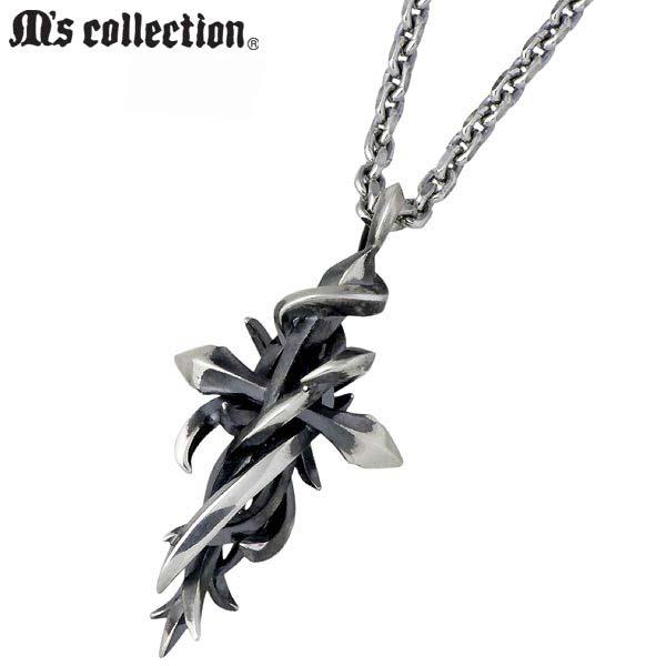 エムズ コレクション M's collection ネックレス メンズ シルバー ジュエリー クロス 十字架 925 スターリングシルバー X0246