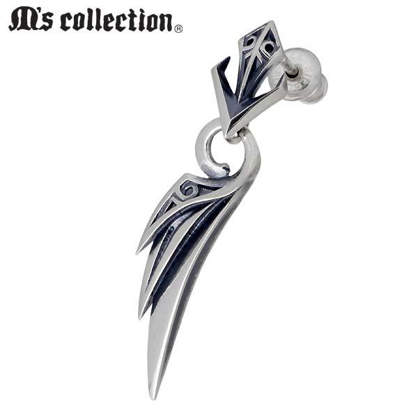 【エムズコレクション】M's collection ピアス レディース シルバー ジュエリー ウィング 1個売り 右耳用 925 スターリングシルバー X0317R