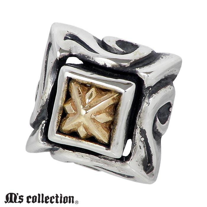 エムズ コレクション M's collection シルバー ジュエリー ピアス K10YG Triple X エディション 1個売り 片耳用 メンズ レディース XE-017