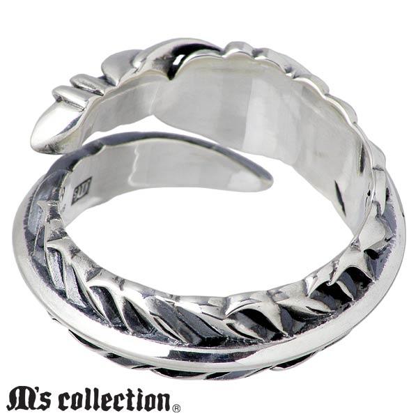 エムズ コレクション M's collection リング 指輪 メンズ ターコイズ フェザー シルバー ジュエリー 13~23号 925 スターリングシルバー XR 006nwP0O8k