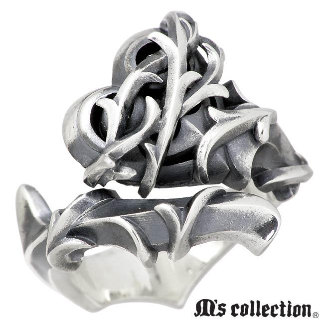 M's collection【エムズコレクション】 リング 指輪 レディース ブランブル ハート シルバー 7~23号 XR-012
