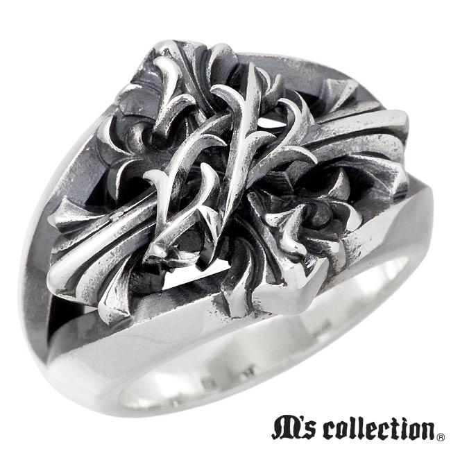 M's collection【エムズコレクション】 リング 指輪 メンズ ブランブル クロス シルバー 13~27号 十字架 XR-014