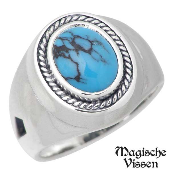 マジェスフィッセン Magische Vissen リング 指輪 メンズ シルバー ジュエリー 空に鳥はばたく ストーン 925 スターリングシルバー OZR-078