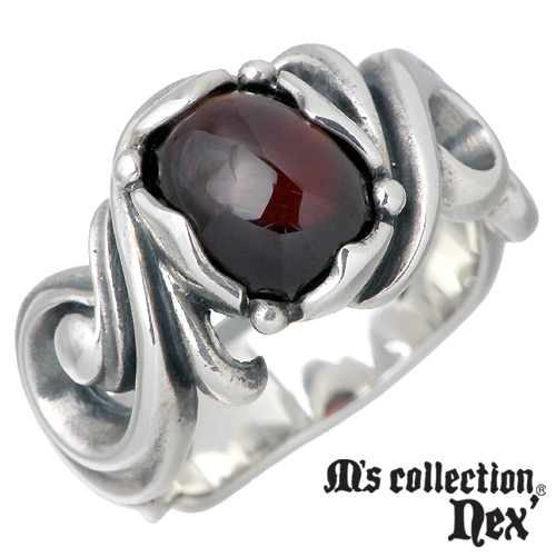 【エムズコレクション】M's collection リング 指輪 メンズ シルバー ジュエリー ストーン 11~17号 925 スターリングシルバー L-644