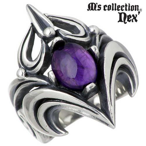 M's collection【エムズコレクション】 リング 指輪 メンズ シルバー ストーン 15~21号 925 スターリングシルバー MAO-004