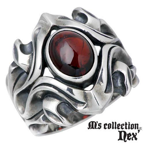 【エムズコレクション】M's collection リング 指輪 メンズ シルバー ジュエリー ストーン 15~19号 925 スターリングシルバー MC-631