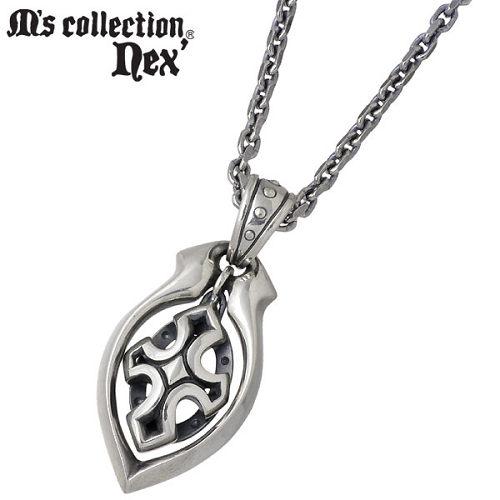 【エムズコレクション】M's collection ネックレス レディース メンズ シルバー ジュエリー クロス チェーン付き 十字架 925 スターリングシルバー MC-791