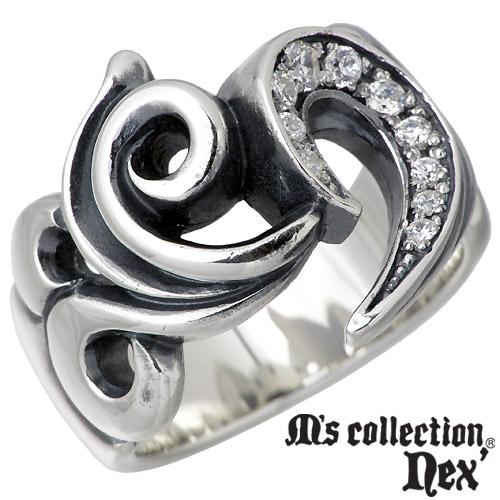 【エムズコレクション】M's collection リング 指輪 メンズ シルバー ジュエリー ハート ストーン 11~21号 925 スターリングシルバー X0088