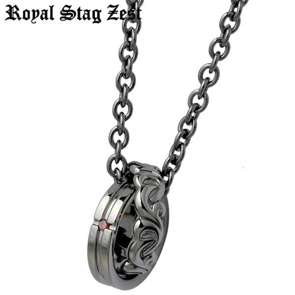 ロイヤルスタッグゼスト Royal Stag Zest ネックレス メンズ ダイヤモンド シルバー ジュエリー レッドダイヤモンド アラベスク 925 スターリングシルバー SN25-016