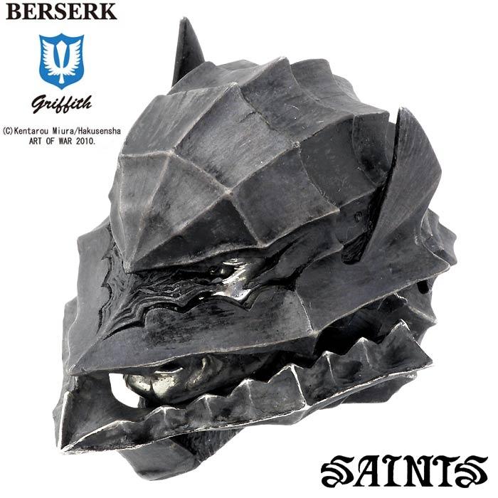 【セインツxベルセルク】BERSERK×SAINTS リング 指輪 メンズ ベルセルク ガッツ シルバー ジュエリー 狂戦士の甲冑 兜付き.ver 17~25号 BSS-R-02-02HM