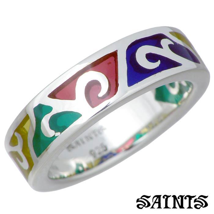 SAINTS【セインツ】 リング 指輪 レディース ステンドグラス シルバー メンズ 7~21号 SSR-40SV